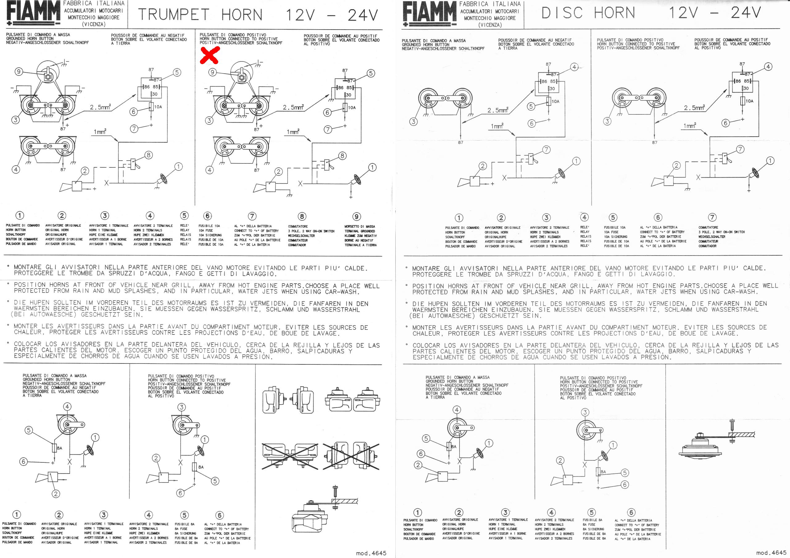 Schema Elettrico Per Montaggio Fendinebbia : Schema elettrico clacson auto fare di una mosca