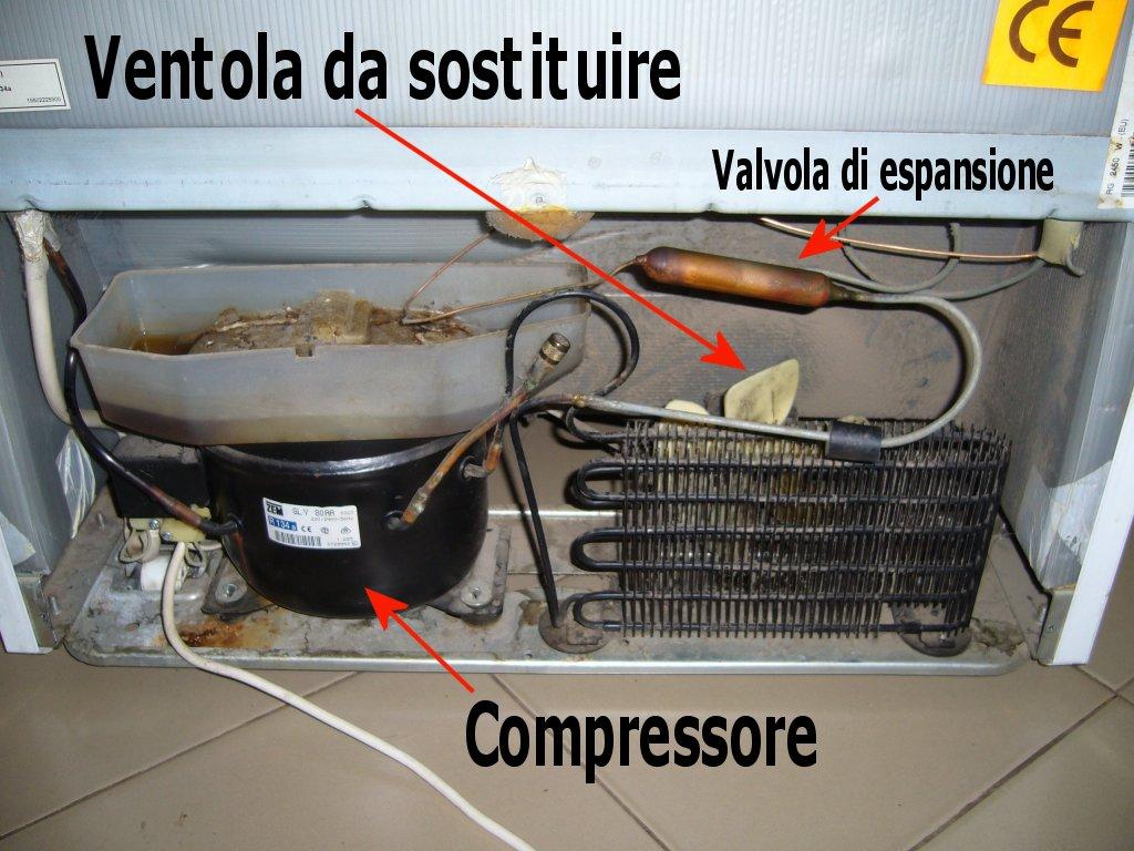 Motore cella frigorifera rumore terminali antivento per for Condizionatore non parte compressore