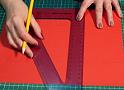 Disegno quadrato su cartoncino