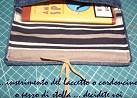 Porta tabacchi in jeans con laccetto di chiusura