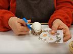 Carta riso ritagliata per uova Pasqua