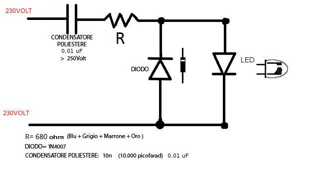 Schema Elettrico Dimmer Per Led 220v : Illuminare un interruttore di casa con led
