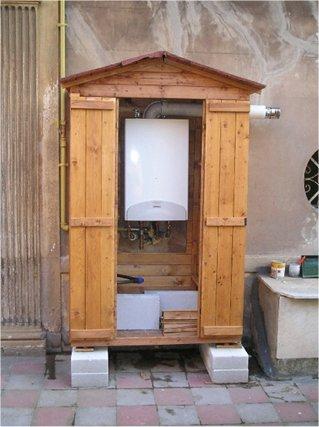 Armadietto caldaia del gas idee per la casa - Armadi per esterno in legno ...