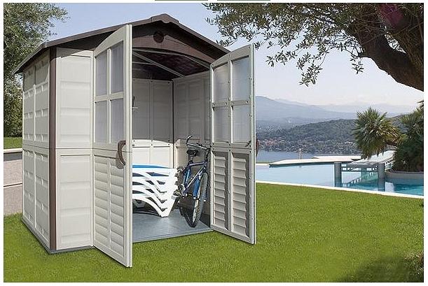 Casette in resina per giardino profilati alluminio - Casette da giardino in resina ...