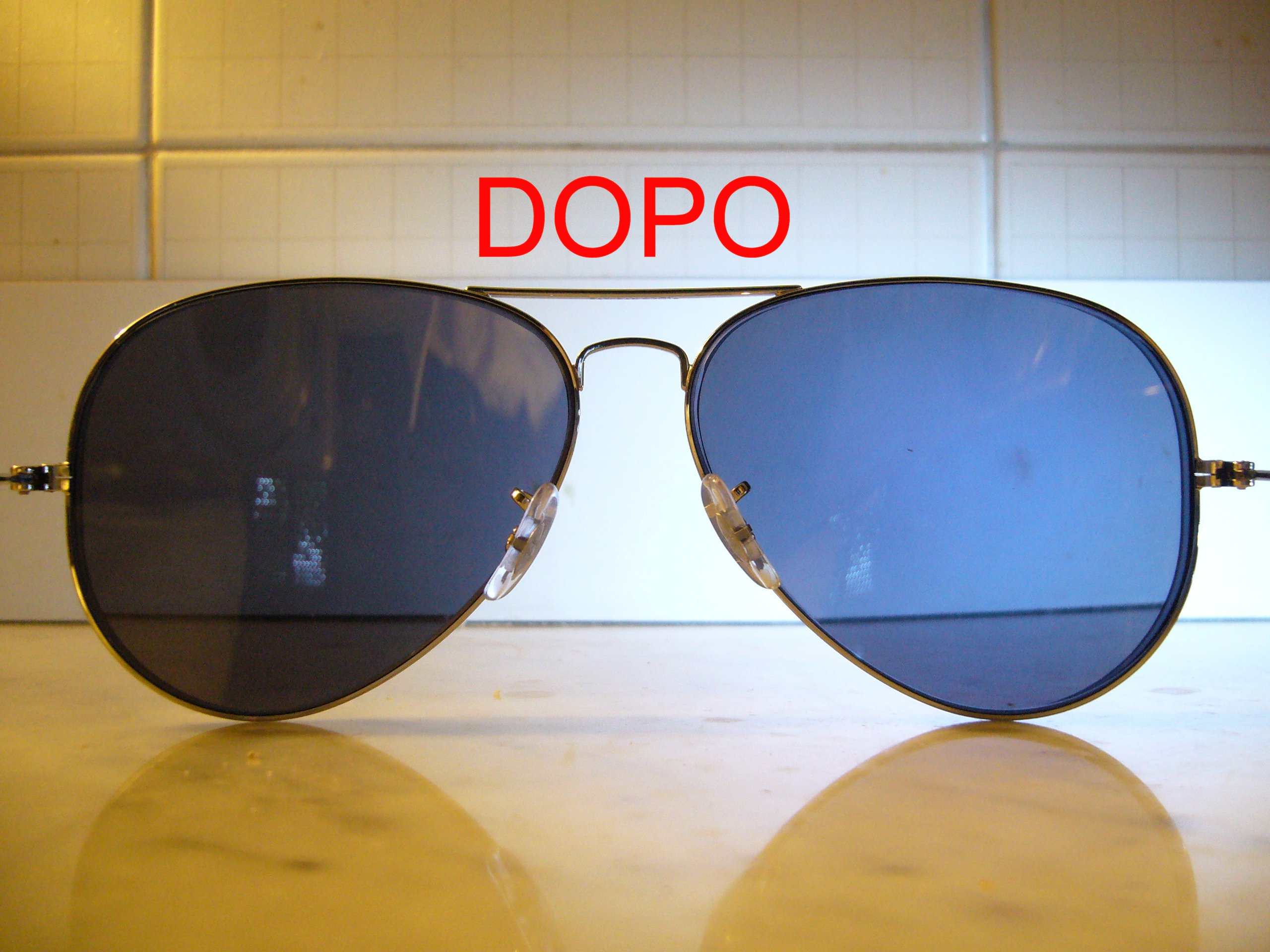 Schiarire le lenti degli occhiali da sole - Occhiali con lenti a specchio colorate ...